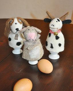 Eierwärmer Hund, Maus und Kuh