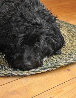 Teppich gehäkelt